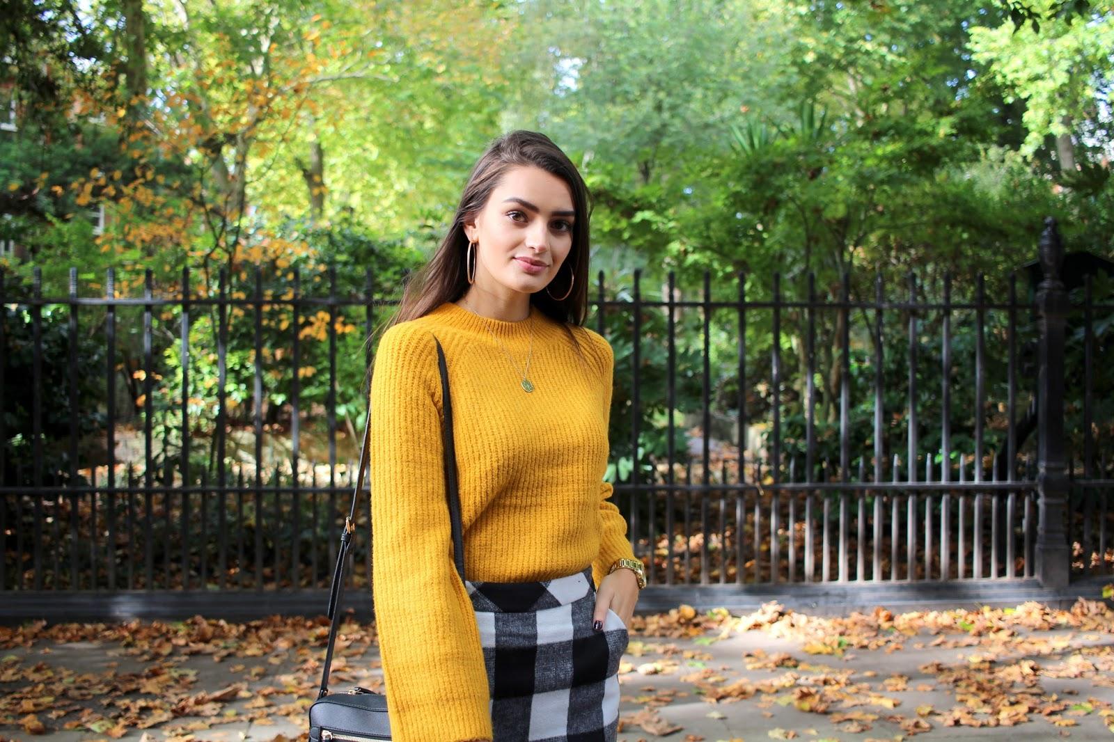 mustard jumper primark peexo style blogger