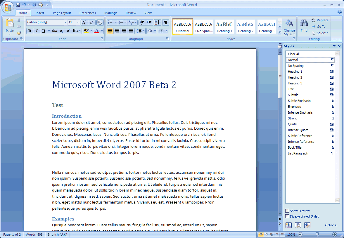 Information Amp Technology Microsoft Office Word 2007