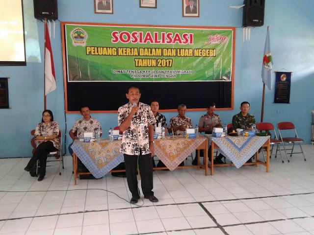 Disnakertrans Jateng Sosialisasi Peluang Kerja di Dalam dan Luar Negeri