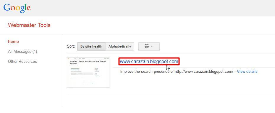 Cara Mendaftarkan Blog Ke Search Engine Google