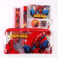 lotto stock di 5 Astuccio scuola bambino gadget regalo fine festa compleanno a tema spiderman