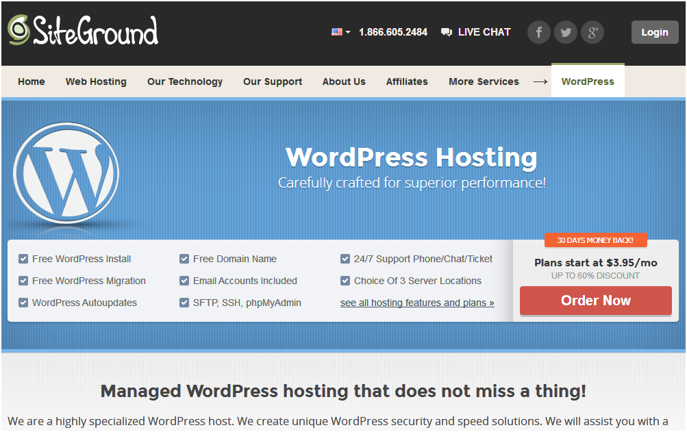 Best wordpress hosting sites in 2014