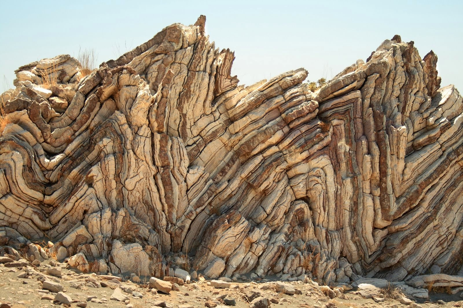 Amazing Folding Rocks at Agia Pavlos