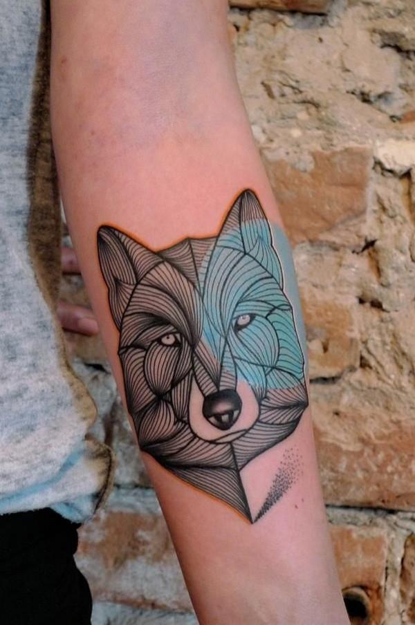Suficiente 13 Lindas tatuagens de Lobo e o seu significado | Meninas de Tatuagens MB44