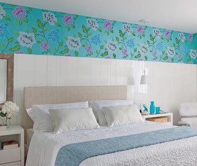 decoração de quarto de casal com azul turquesa, Decorar a casa de forma simples, decoração com amor.