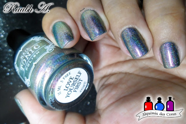 Tonic Polish Love Yourself First, Tonic Polish Secrets and Soulmates, Raabh A. 2018, Multicrome, Holográfico, BP-L 024, unhas carimbadas,