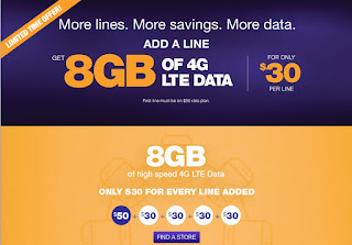 MetroPCS Add a line with 8 GB LTE Data for $30