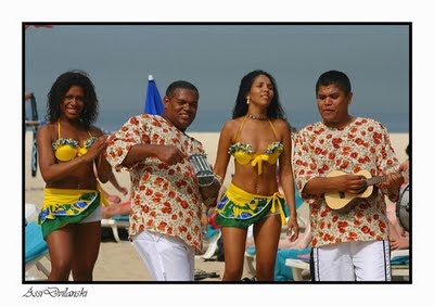 afro brazilians at the beach in salvador bahia brasil
