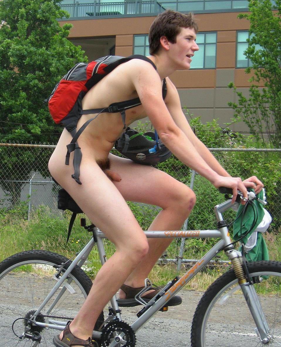 photo bulge naked cyclist nudist