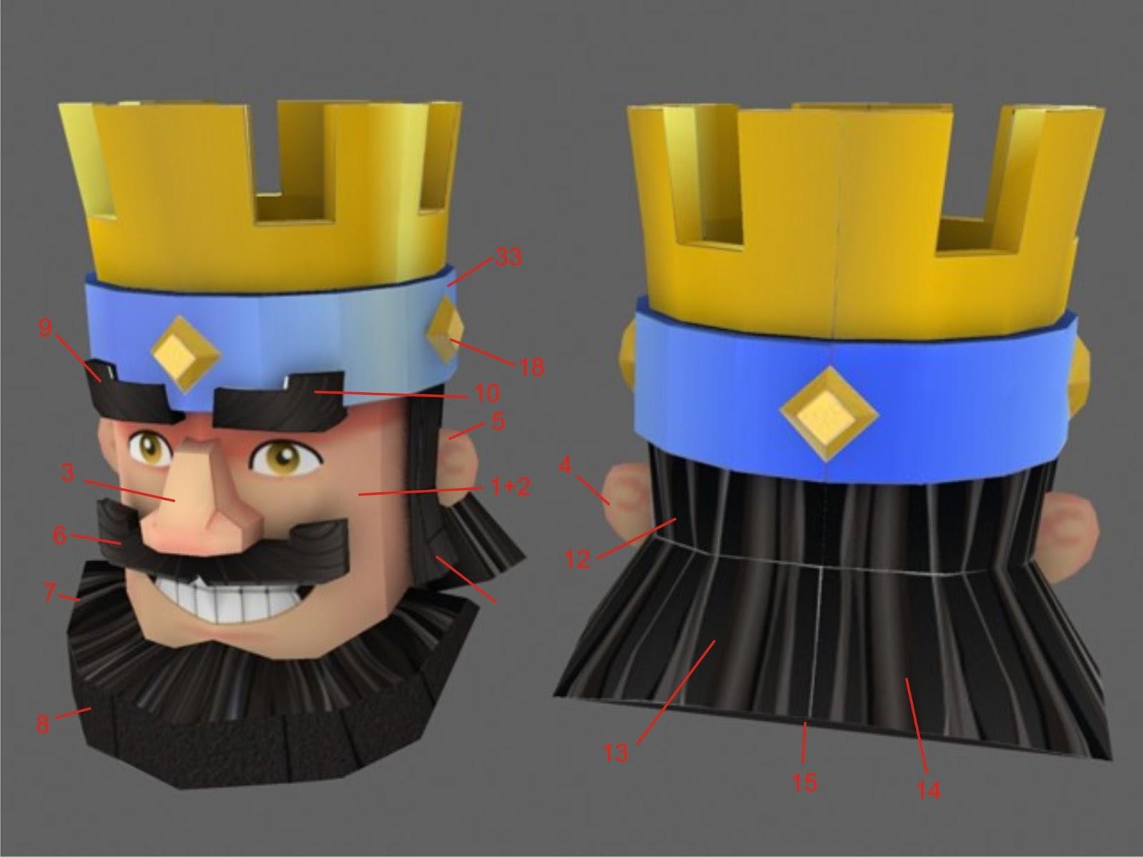 Clash Royale Papercraft - The King   Bamboogila Papercraft