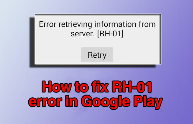 rh-01 error code