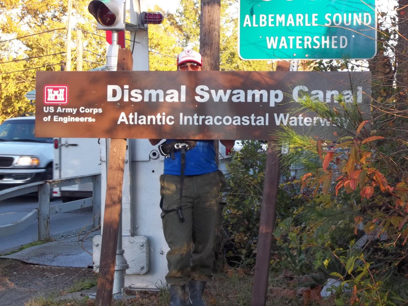 Pète pis répète sen vont en bateau: Dismal Swamp Canal