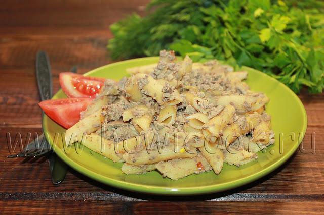 рецепт макарон по-флотски с куриной печенью