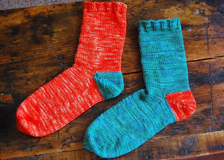 german short row socks