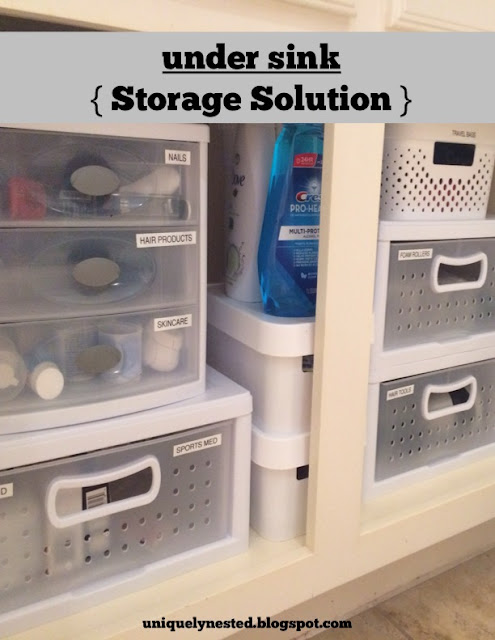 Under Sink Storage Solution