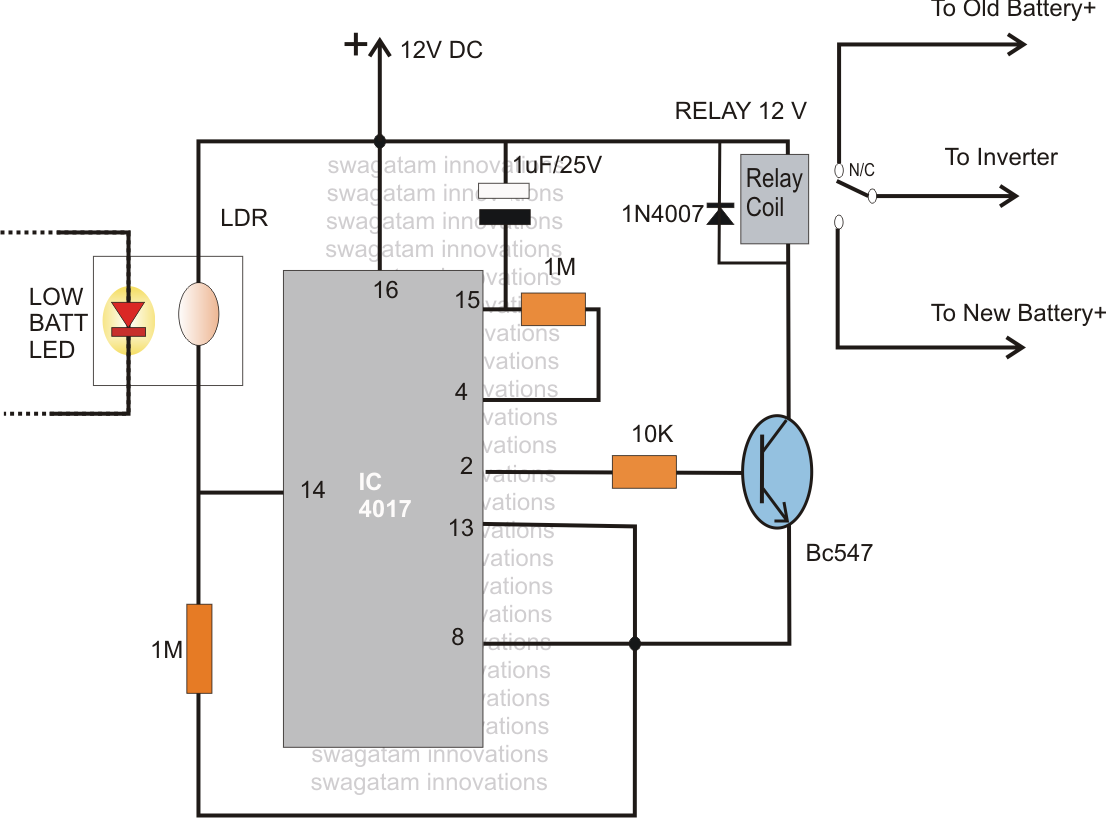 Wiring A Changeover Relay Free Diagram For You Picture Of Automatic Switching Street Lights By Using Ldr And Dual Battery Circuit 4pdt Ac