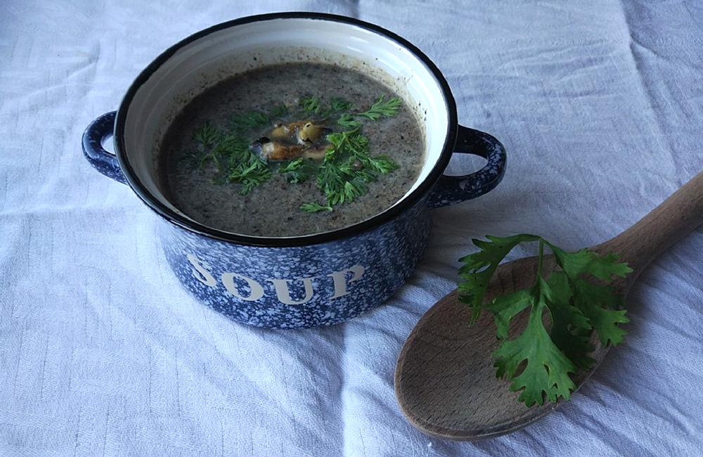 sopa de cogumelos frescos + blogue ela e ele + ele e ela + pedro e telma + blogue ela e ele + receita caseira