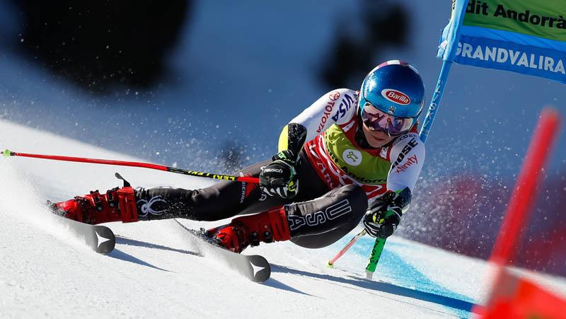 Mikaela Shiffrin obrovský slalom  - Andorra