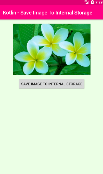 android kotlin - Save image to internal storage