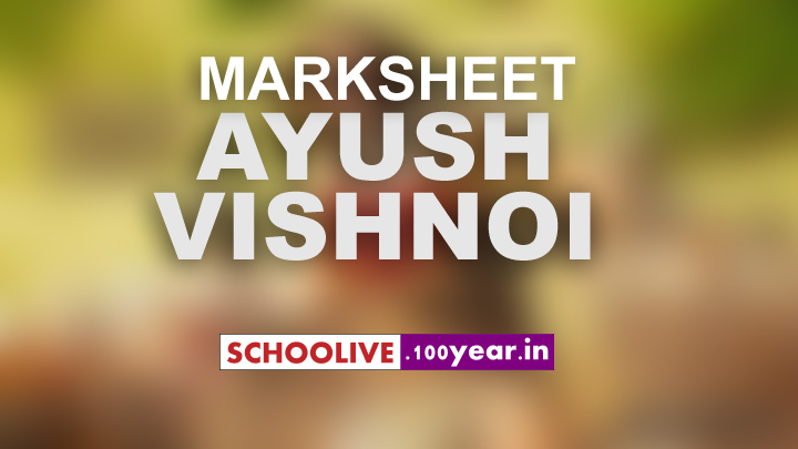 Marksheet of Ayush Vishnoi st mary gajraula