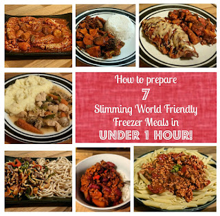 how to prepare a week of slimming world friendly freezer bag meals