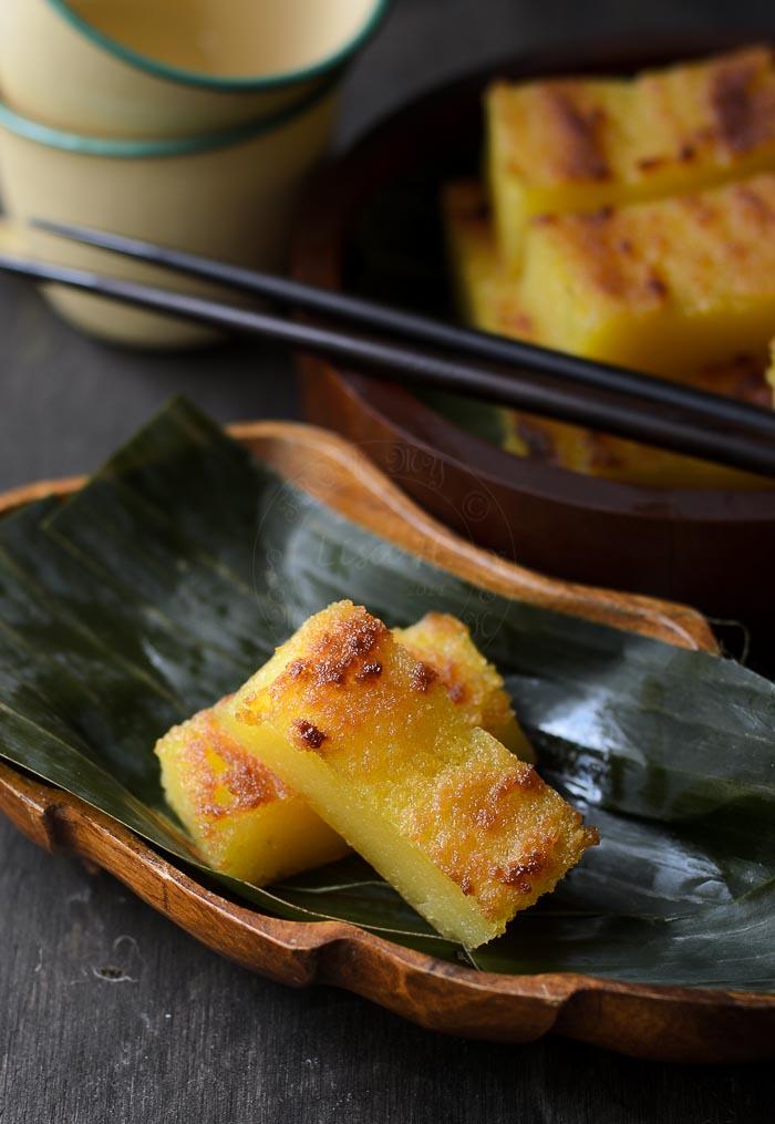 Kuih Bingka Ubi Kayu | Cassava Cake
