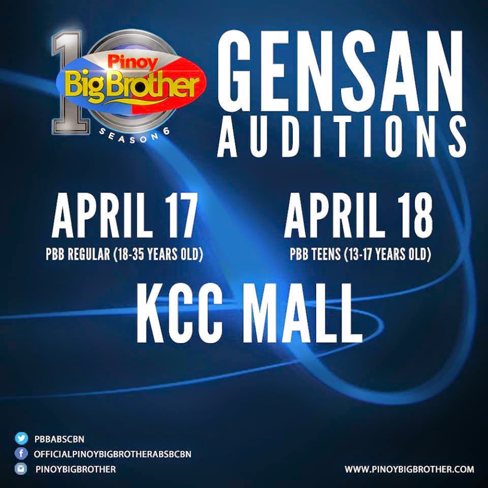 PBB Gensan Auditions Schedule