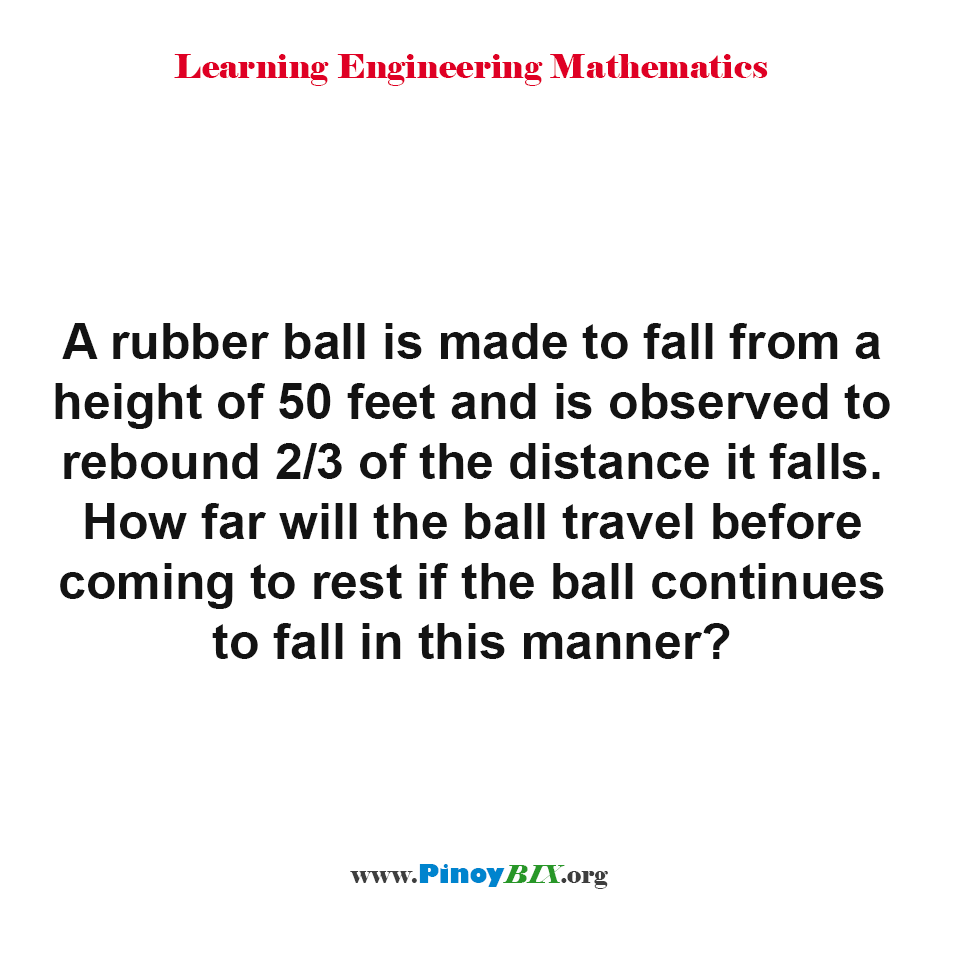 How far will the ball travel before coming to rest?