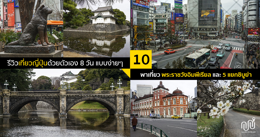 รีวิวเที่ยวญี่ปุ่น 8 วัน EP.10 พาเที่ยวพระราชวังอิมพีเรียล(Imperial Palace) 5แยกชิบูย่า(Shibuya)