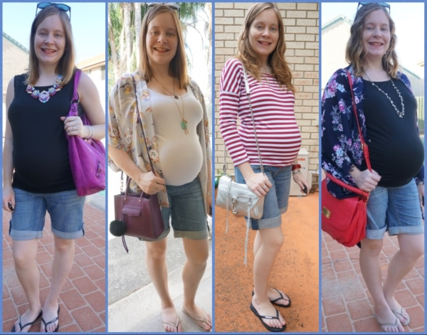 Third Trimester Outfit Ideas: 4 ways to wear bermuda denim maternity shorts