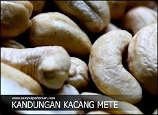 Kandungan Kacang Mete (Anacardium occidentale) secara lengkap