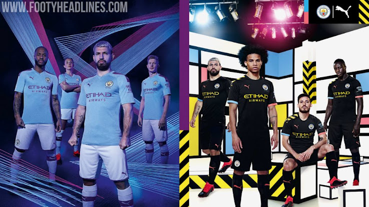 610221b8a Puma Manchester City 19-20 Home & Away Kits Released + Third & 125th ...