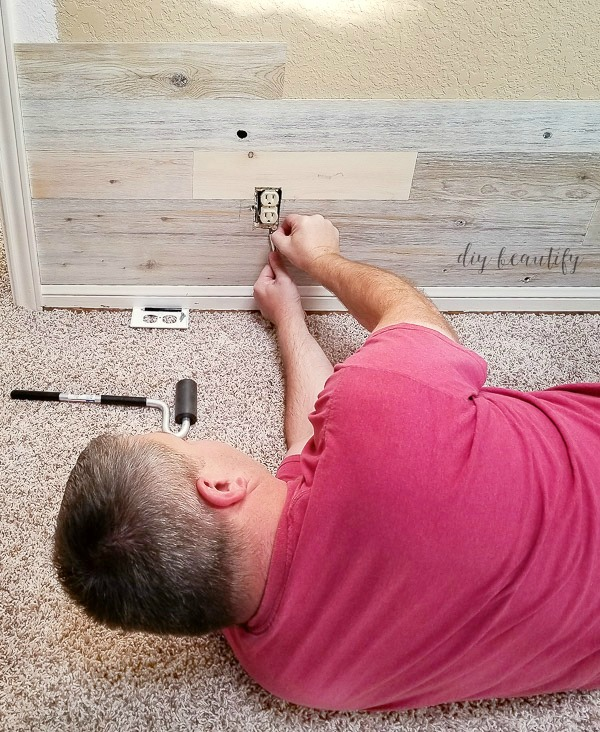 cut around outlets | diy beautify
