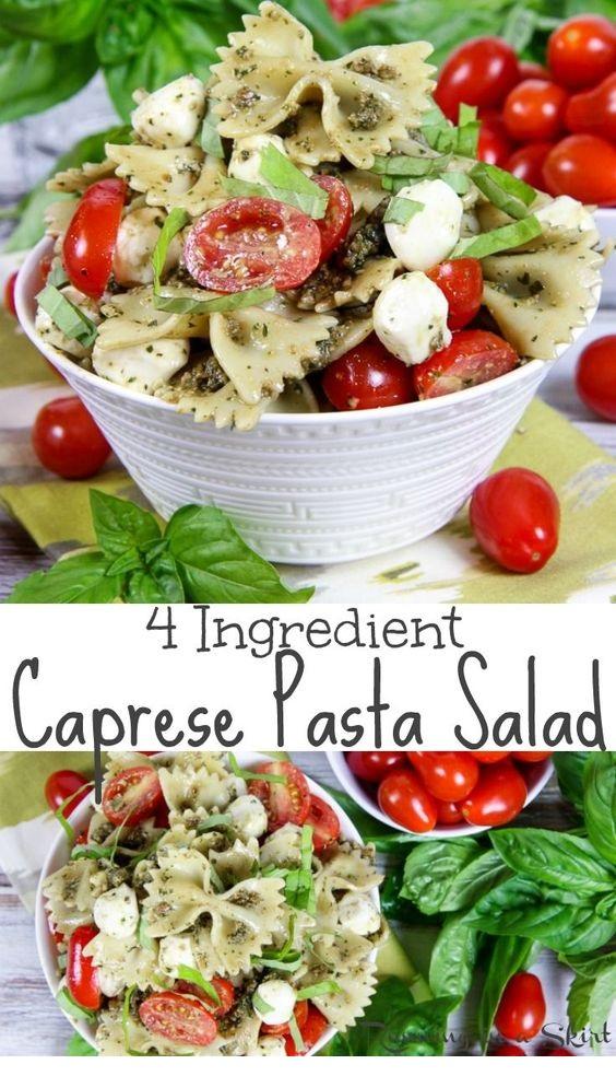 Caprese Pasta Salad with Pesto