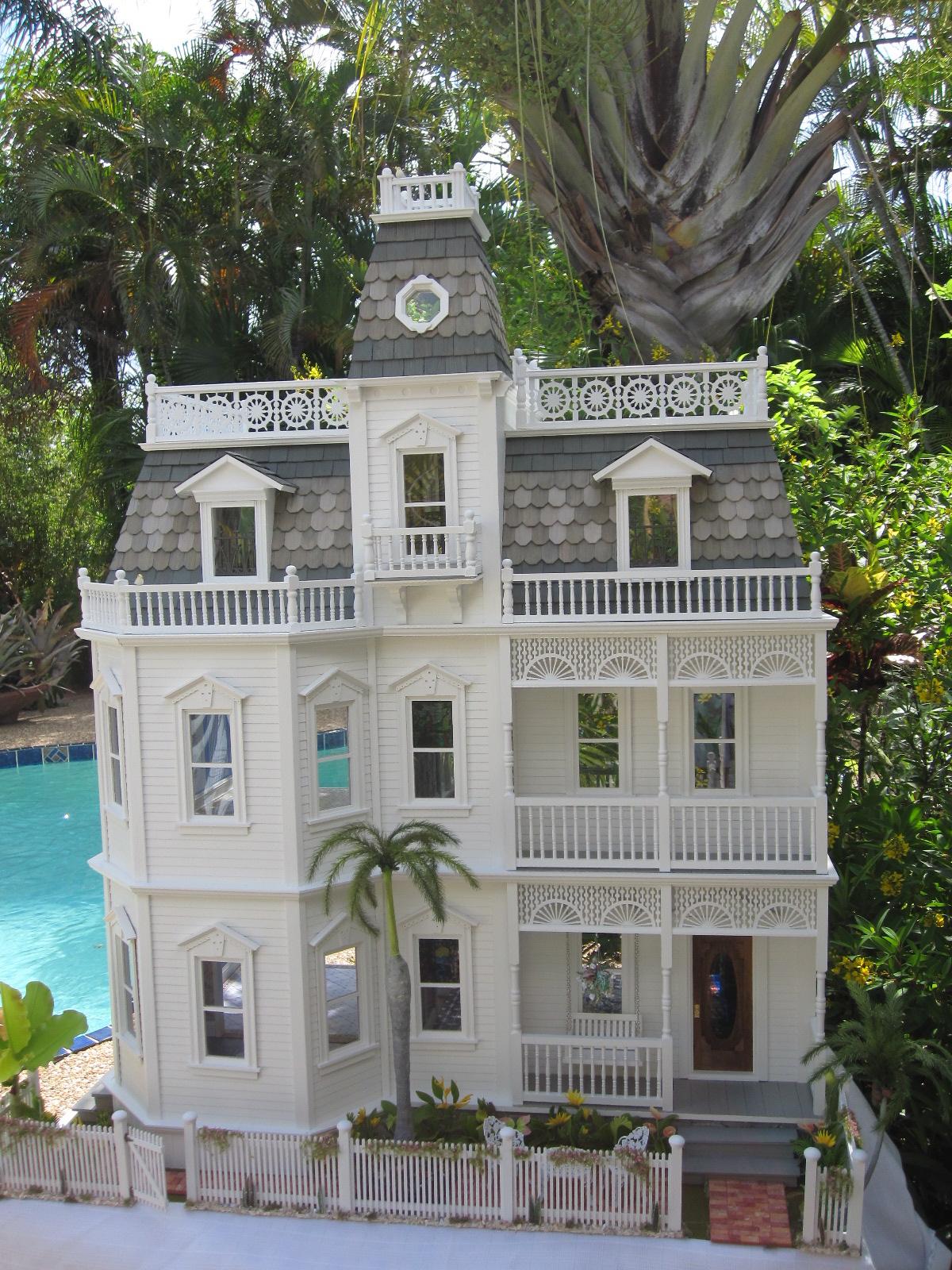 Dollhouses By Robin Carey The Key West Island Manor Dollhouse