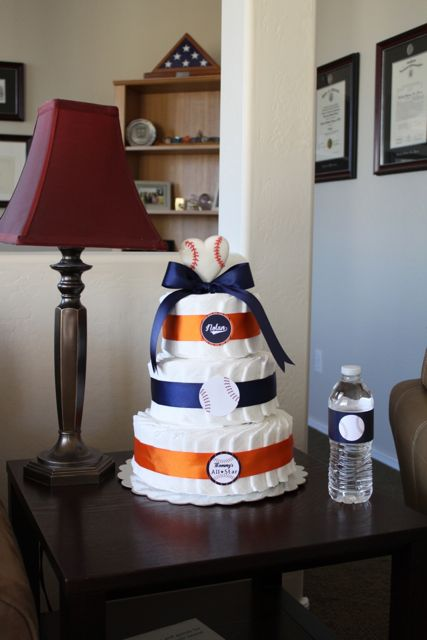 Alissas Theme Is Also Vintage Baseball With Orange And Blue As The Primary Colors I Used All Same Decorations But Changed To Match