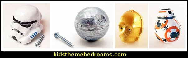 tormtrooper Cabinet Knob - C3PO Resin Cabinet Knobs - Death Star Cabinet Knob - BB8 Cabinet Knob - Star Wars Knobs