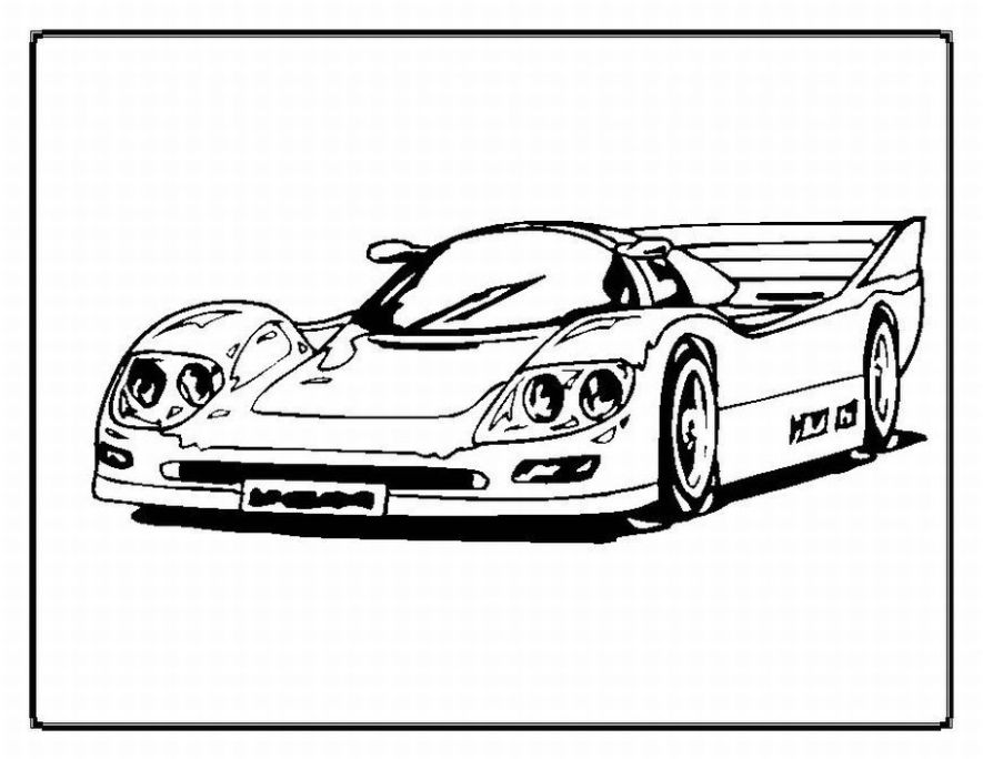 Full Force Race Car Coloring Pages | Free | NASCAR | Sports Car | 684x885