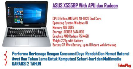 laptop asus multimedia gaming amd murah terjangkau