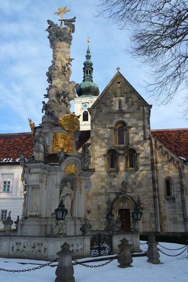 autriche basse-autriche niederösterreich stift abbaye heiligenkreuz wienerwald église colonne trinité