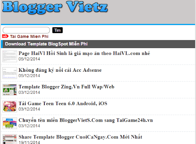 Share Template Blogger Wap Web BloggerVietZ.Blogspot.com