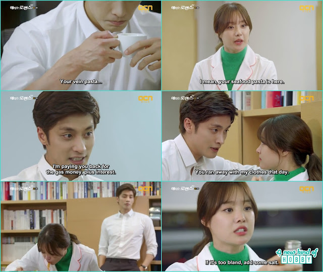 jin wook pay yoo mi the gas money and in return ask for his clothes but she play all dumb - My Secret Romance: Episode 3
