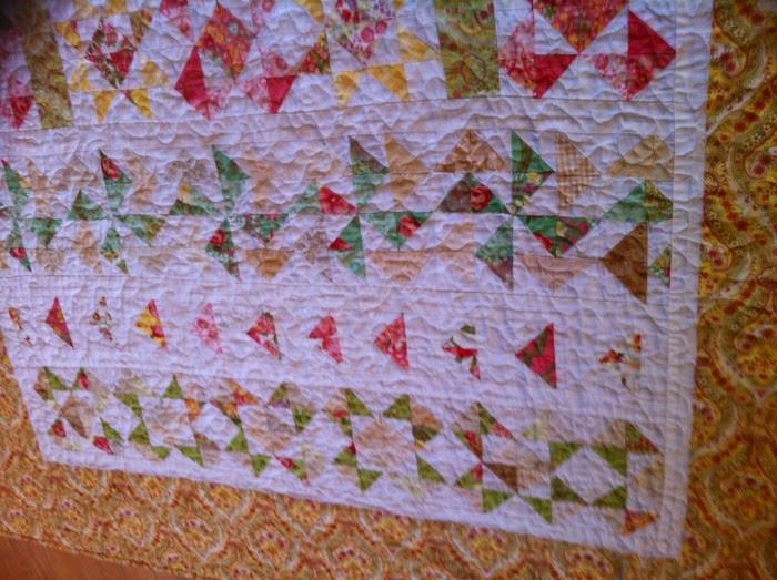 Randen eerste quilt