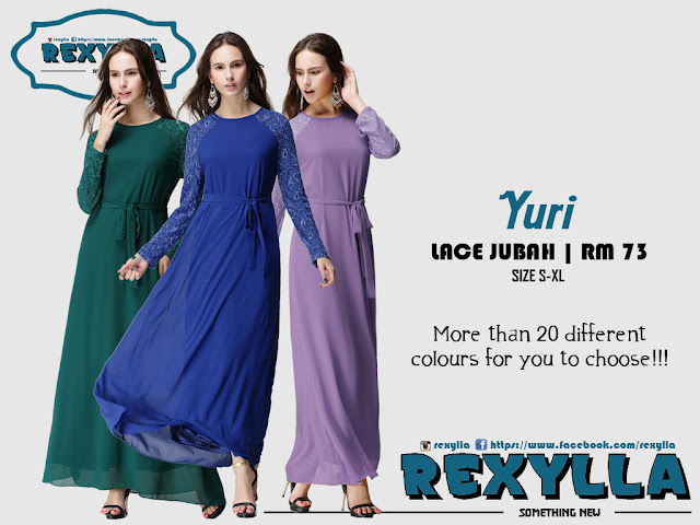 rexylla, jubah, lace jubah, yuri collection