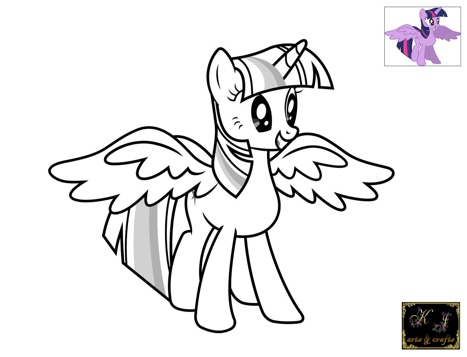 My little pony coloring pages twilight sparkle alicorn for My little pony twilight sparkle coloring page