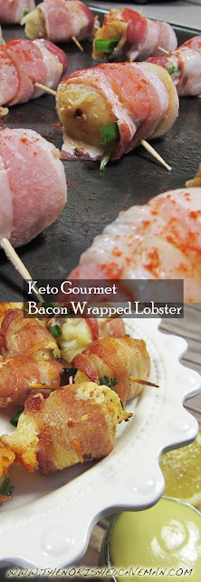Yummy Keto Gourmet: Bacon Wrapped Lobster!