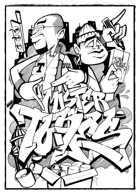 Ausmalbilder kostenlos ausdrucken graffiti