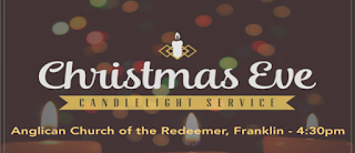 Annual Christmas Eve Candlelight Service on Monday, December 24
