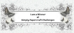 Winner Simply Papercraft challenge nº42
