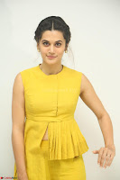 Taapsee Pannu looks mesmerizing in Yellow for her Telugu Movie Anando hma motion poster launch ~  Exclusive 103.JPG